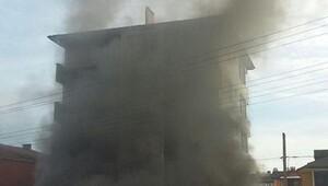 Derincede iş yerinde korkutan yangın