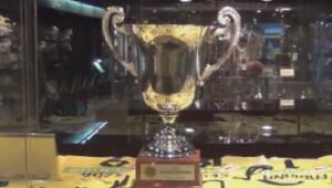 Trabzonspor taraftarı Fenerbahçenin kupasını çaldı