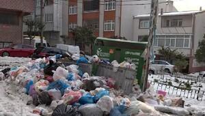 Yağmur yağdı, çöpler toplanmaya başlandı