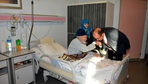 Başkan Çölden hastane ziyareti