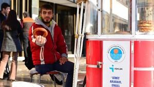 Mersinde engellilerin hayatı Simit Arabam Projesi ile değişti