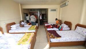 Kimsesiz 7 vatandaş otele yerleştirildi