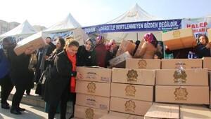 Şanlıurfalı kadınlardan Halepe yardım