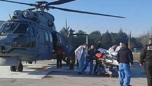 Uludağda dün kaybolan Büşraya ekipler bu sabah ulaştı (2)