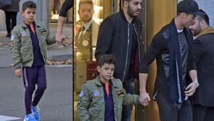 Ronaldo oğluyla alışverişte