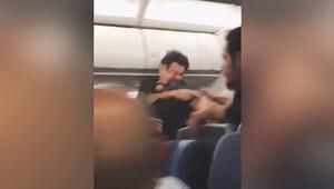 İki yolcu birbirine girdi uçak İstanbul'a zorunlu iniş yaptı