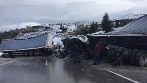 Afyonkarahisarda zincirleme trafik kazası