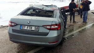 Ağır ceza hakimi, savcı eşi ve 2 çocuğu kazada yaralandı