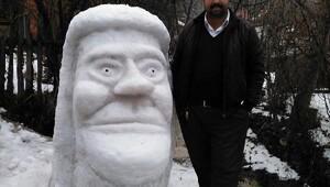 Kardan heykel ve ev yaparak beyaz örtü keyfi