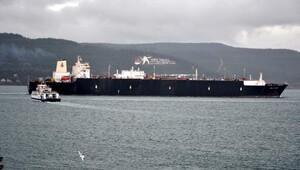 Çanakkale Boğazından doğalgaz tankeri geçti