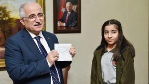 Şanlıurfalı çocuktan Halepli çocuklara mektup