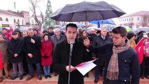 Edirnede CHPlilerden anayasa değişikliği protestosu