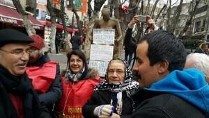 Polis eylemciye, CHP'li Mahmut Tanal da polise müdahale etti