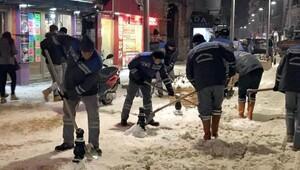 Kırklarelide karla mücadelede 115 ton tuz, 100 ton solüsyon kullanıldı