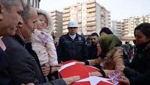 Şehit polislere Diyarbakırda uğurlama töreni
