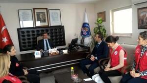 Gençlik Merkezi ekibi, KYK İl Müdürü Özkanı ziyaret etti