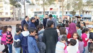 Kaymakam Yosunkayadan Suriyelilere ziyaret