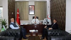 Başhekim Çömez'den Genel Sekreter Yeşildağ'a ziyaret