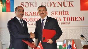 Göynük ile Azerbaycanın Şeki kenti kardeş şehir oldu