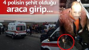 Polislerin şehit olduğu saldırıda silahı böyle çaldı