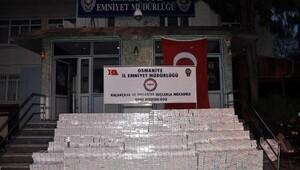 Osmaniyede 103 bin paket kaçak sigara ele geçirildi