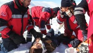 Bingölde kurtarma tatbikatında kaza: 1 yaralı