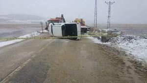 İpsala'da kamyonet devrildi: 1 ölü, 1 yaralı