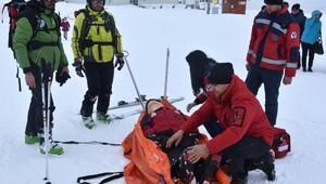 Kayak merkezinde güvenlik tatbikatı