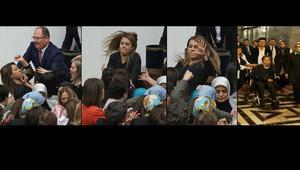 Mecliste tarihi kavga Kadın vekiller birbirine girdi