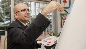 Mehmet Şimşek ve ünlü isimler, Alzheimer Derneği için resim yaptı