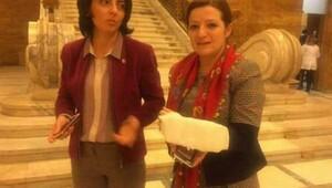 Meclisteki kavgada CHPli Basmacının kolu çatladı