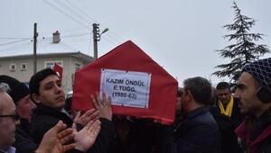 Uçak kazasında ölen pilot Kazım Öndül, Konyada toprağa verildi