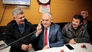Başbakan Yıldırımdan taksi durağına ziyaret