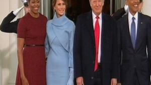 Donald Trump görevi devralmak üzere Beyaz Saraya geldi