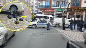 Esenyurtta polise ateş açıldı.. İşte olay yerinden ilk fotoğraflar