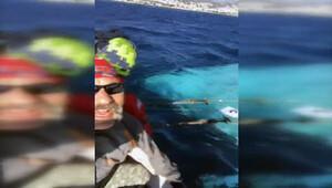 Tekneleri batarken sosyal medyadan canlı yayın yaptı