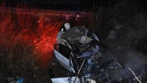 Su kanalına uçan otomobildeki kadın öldü