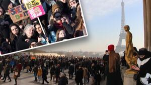 Avrupa'da kadınlar Trump'a karşı yürüdü