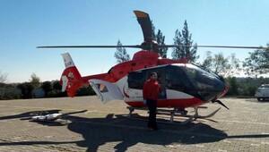 Ambulans helikopterle Ispartaya gönderildi