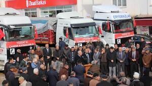 Çandır ilçesinden Halep'e 96 ton un gönderildi