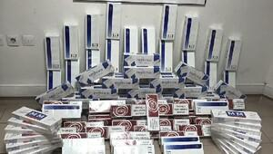 Otobüs yolcusunun çantalarından 120 karton kaçak sigara çıktı