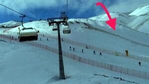 Sömestir tatiline gelen liseli genç, Erciyeste kayak yaparken uçuruma düşüp öldü