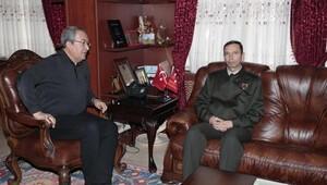 İl Jandarma Komutanı'ndan Belediye Başkanı Ünver'e ziyaret