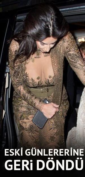 Kim Kardashian eski günlerine geri döndü