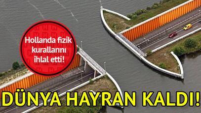 Hollanda, fizik yasalarını ihlal eden bir su yolu inşa etti
