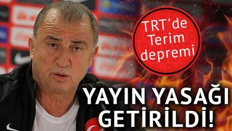 TRT'de Terim depremi!