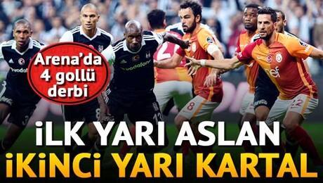 Beşiktaş - G.Saray derbisinde 4 gol vardı