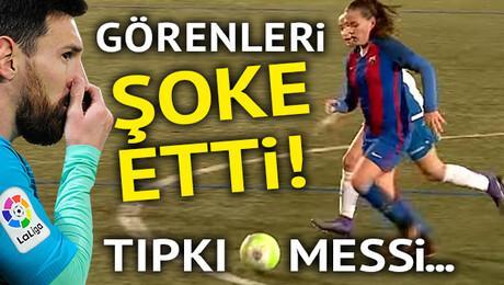 Görenleri şoke etti Tıpkı Messi...