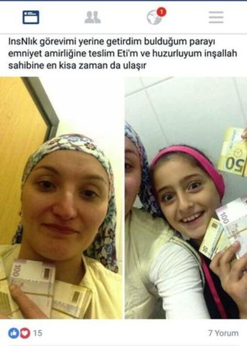 Durakta bulduğu parayı polise teslim eden kadına ödül