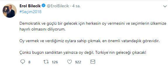 TÜSİAD Başkanı Bilecik'ten 'seçim' açıklaması